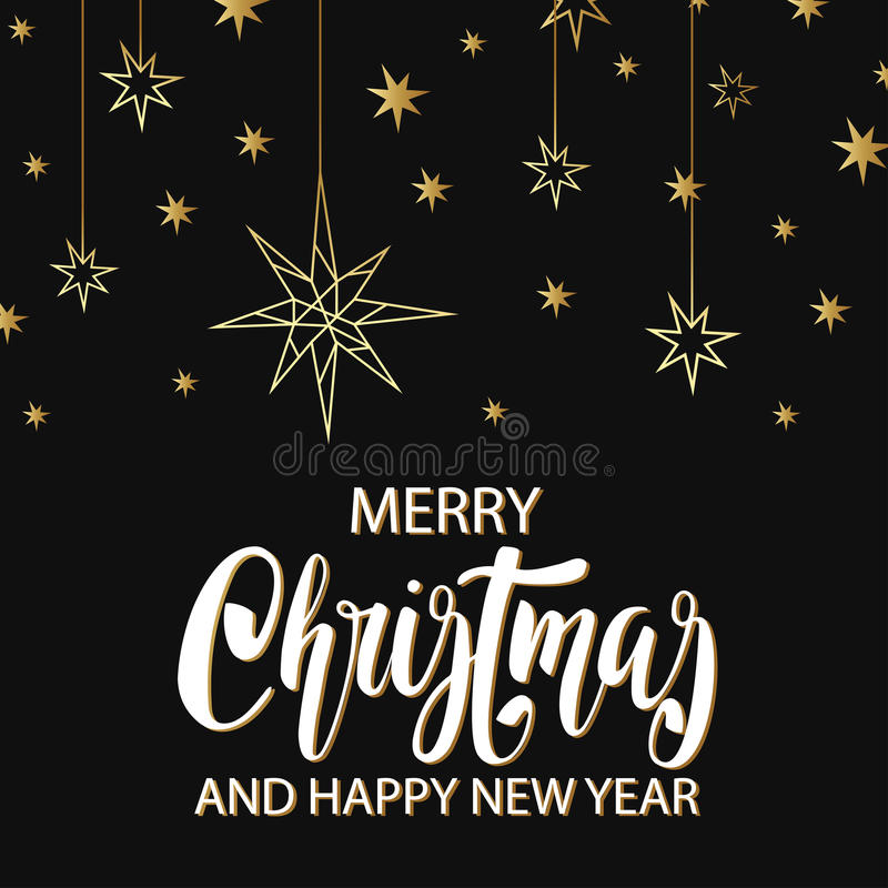 Merry christmas and happy new year luxury background with golden merry christmas and happy new year luxury background with golden stars noel moon holiday elements in trendy geometric style greeting card invitation stopboris Gallery