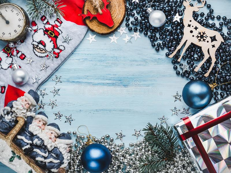 Merry Christmas and Happy New Year 2020 royalty free stock images