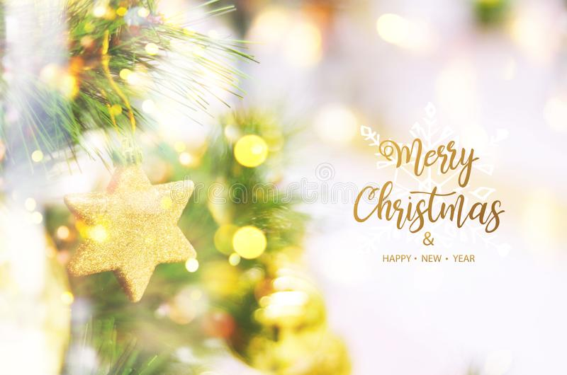 Merry Christmas and Happy New Year. Christmas tree background royalty free stock images