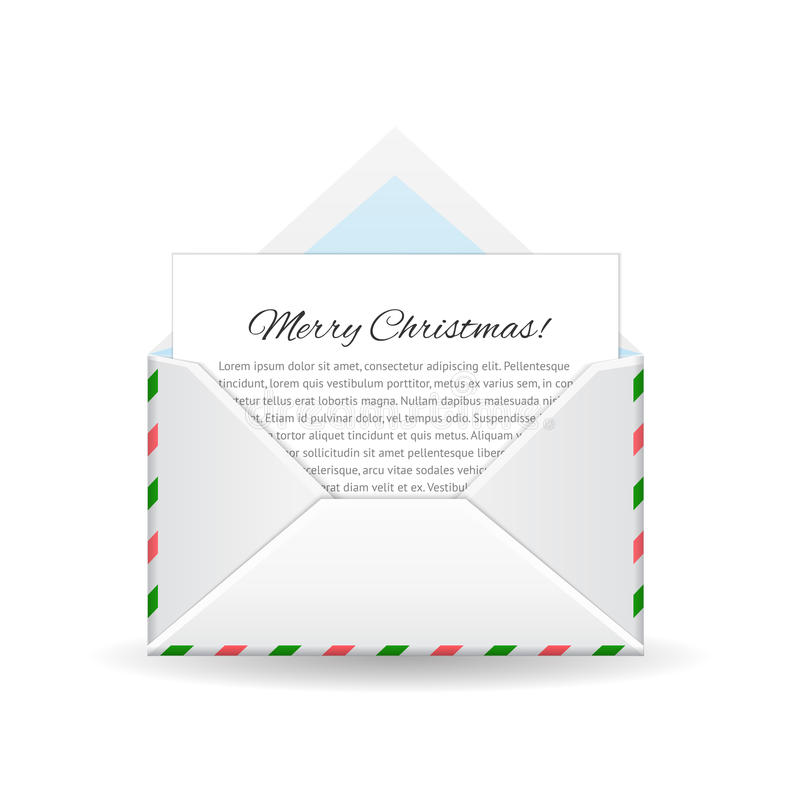 Merry christmas and happy New Year. Message from north pole. Merry Christmas and Happy New Year. Vector letter from Santa. Message from North pole vector illustration