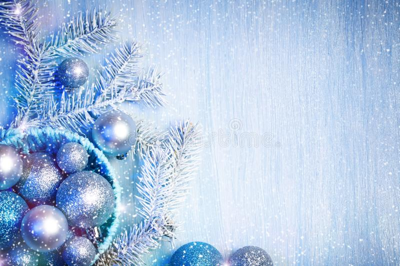 Merry Christmas and Happy New Year. A New Year`s background with New Year decorations.New Year`s card. Merry Christmas and Happy New Year. A New Year`s stock image
