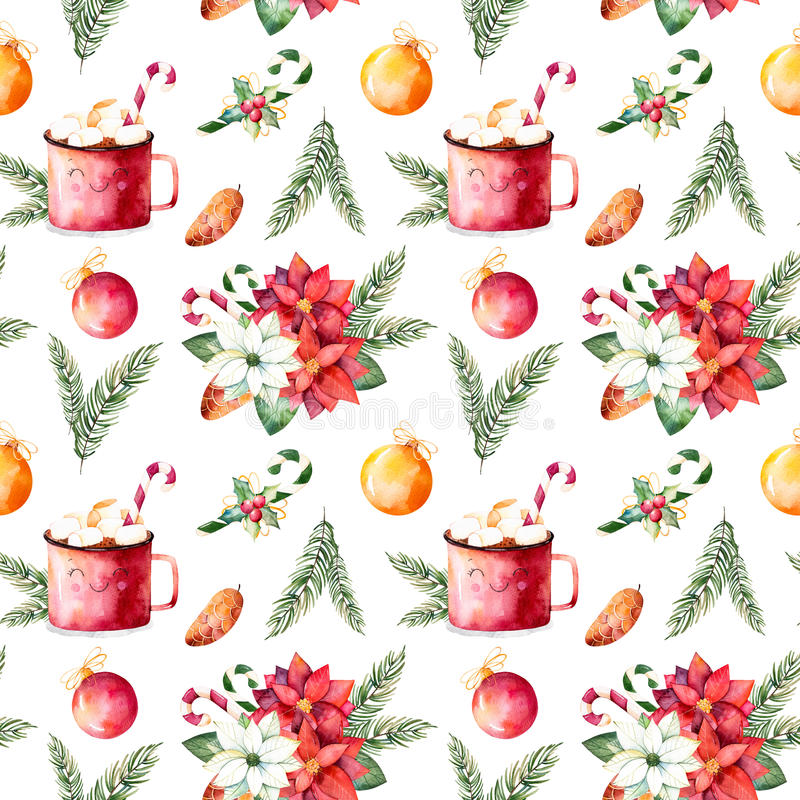 Merry Christmas and Happy New Year set. stock illustration