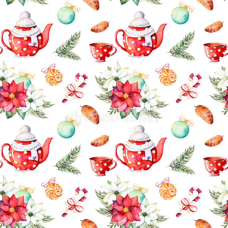 Merry Christmas and Happy New Year set. royalty free illustration