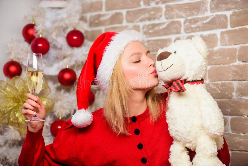 Merry christmas and happy new year. Smiling woman celebrating christmas. delivery christmas gifts. New year party. happy stock photos