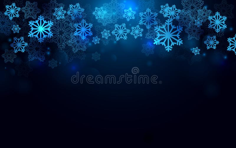 Merry Christmas and Happy new year with snowflakes background vector illustration