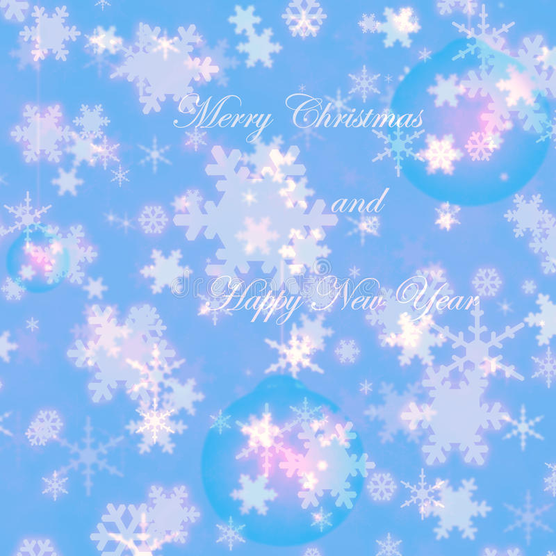 Merry Christmas and happy new year snowflakes winter greeting card royalty free stock photo