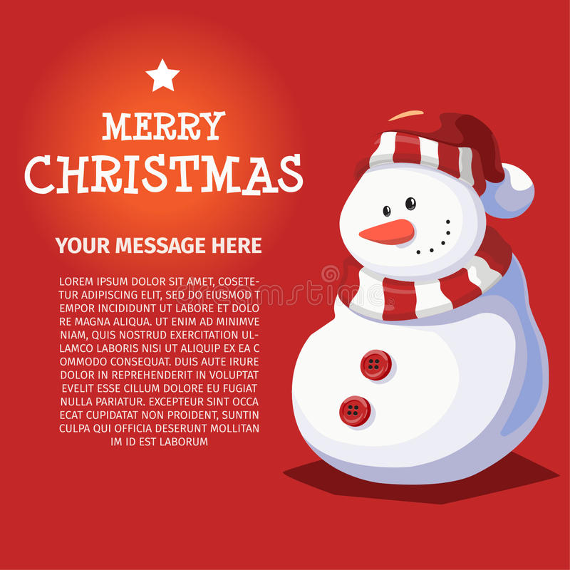 Merry Christmas and Happy New Year Snowman stock photos