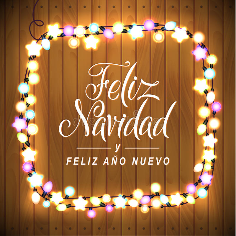 Merry christmas and happy new year spanish language glowing lights download merry christmas and happy new year spanish language glowing lights wreath for xmas m4hsunfo