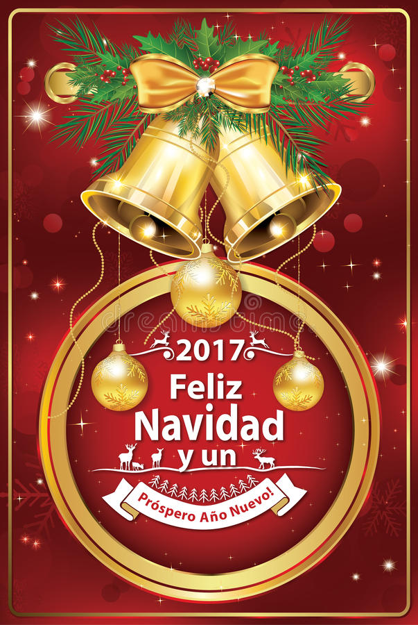 Merry christmas and happy new year 2017 in spanish language stock download merry christmas and happy new year 2017 in spanish language stock illustration illustration of m4hsunfo