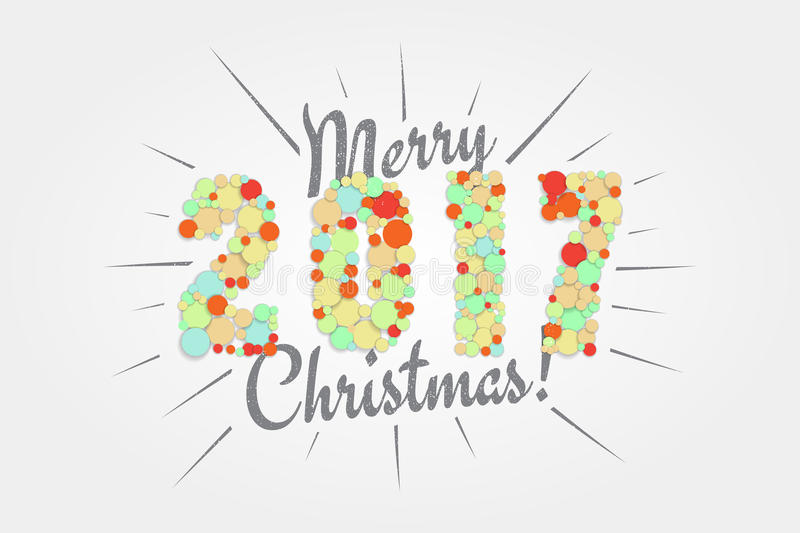 Merry Christmas. Happy new year 2017. Typographic Labels, Stickers royalty free stock images