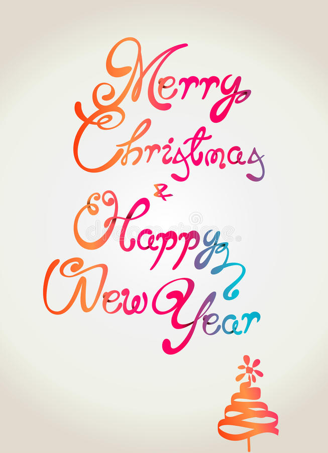 Download Merry Christmas And Happy New Year Wallpaper Desig Stock Vector - Image: 26931827