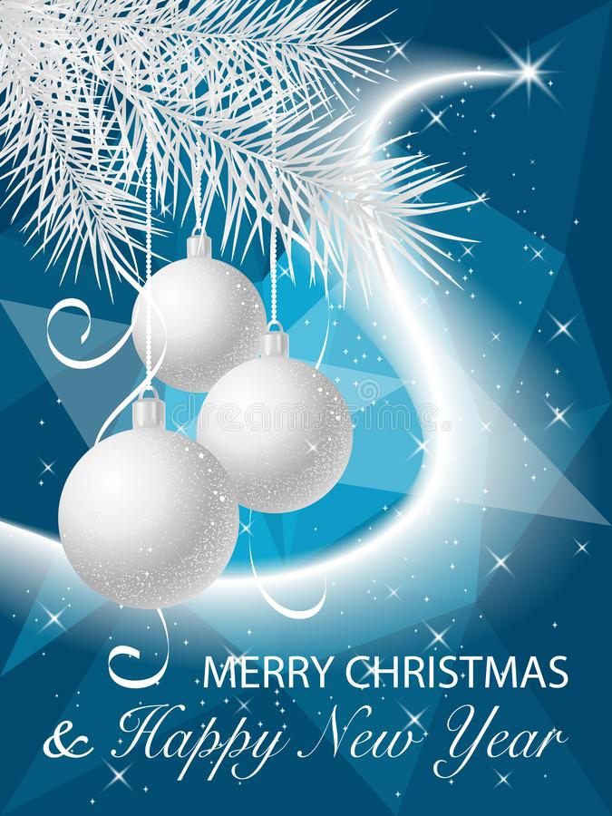 Merry Christmas and Happy New Year 2019 winter holiday greeting card stock photo
