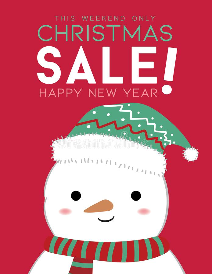 Winter sale design with Snowman royalty free illustration