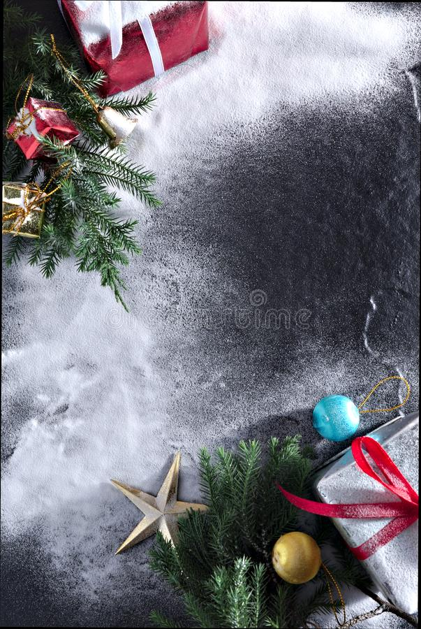 Merry christmas and happy newyear gift royalty free stock images