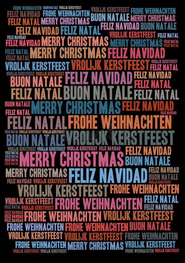Merry Christmas holiday background. Merry Christmas words tags holiday background - for your holiday projects: cards, postcards, posters, invitations, letters royalty free illustration