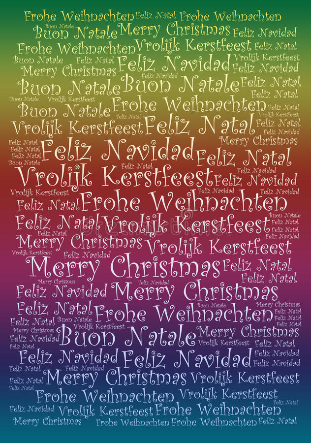 Merry Christmas holiday background. Merry Christmas words tags holiday background - for your holiday projects: cards, postcards, posters, invitations, letters stock illustration