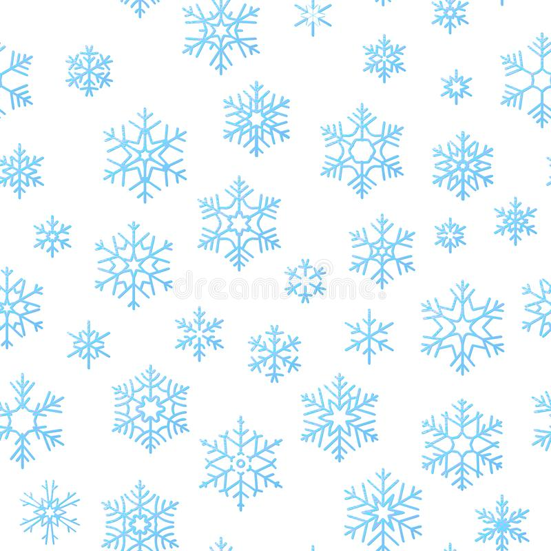Merry Christmas holiday decoration effect background. Blue snowflake seamless pattern template. EPS 10 vector illustration