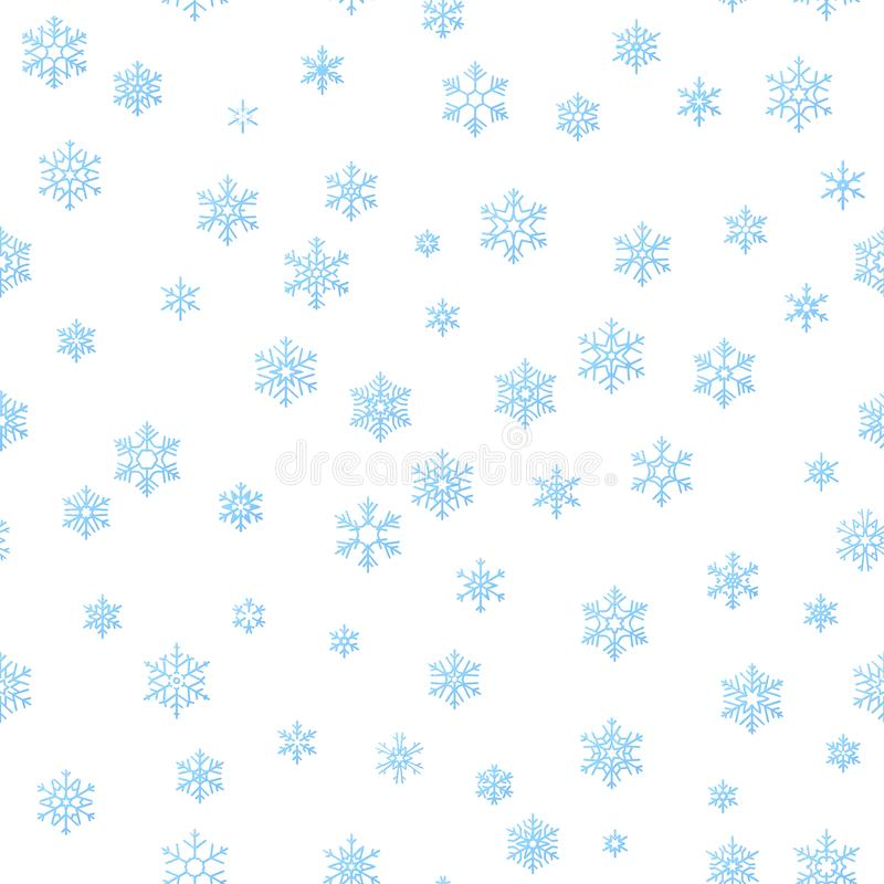 Merry Christmas holiday decoration effect background. Blue snowflake seamless pattern template. EPS 10 royalty free illustration