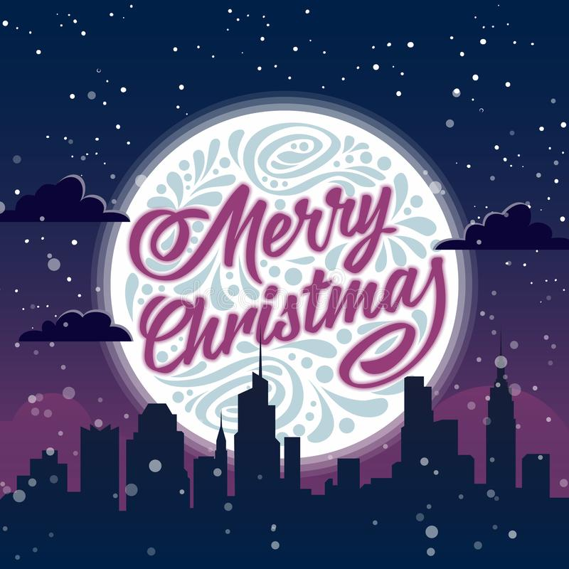 Merry Christmas. Holiday greeting card stock illustration
