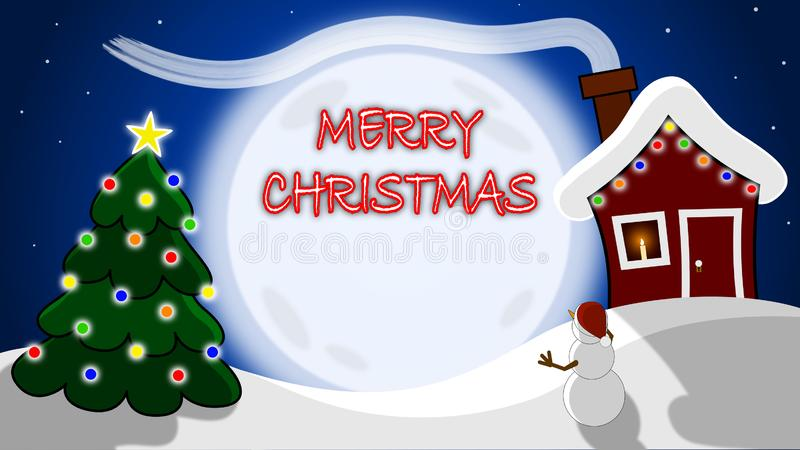 Merry Christmas Holiday Scene with Copy Space. stock images