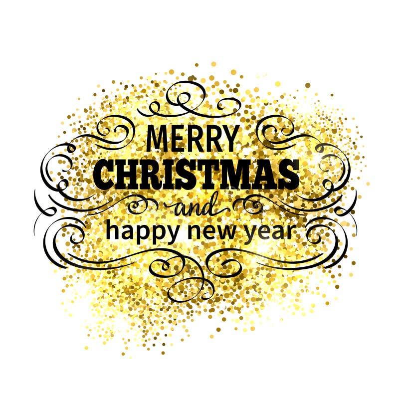 Merry Christmas holidays greeting card stock illustration