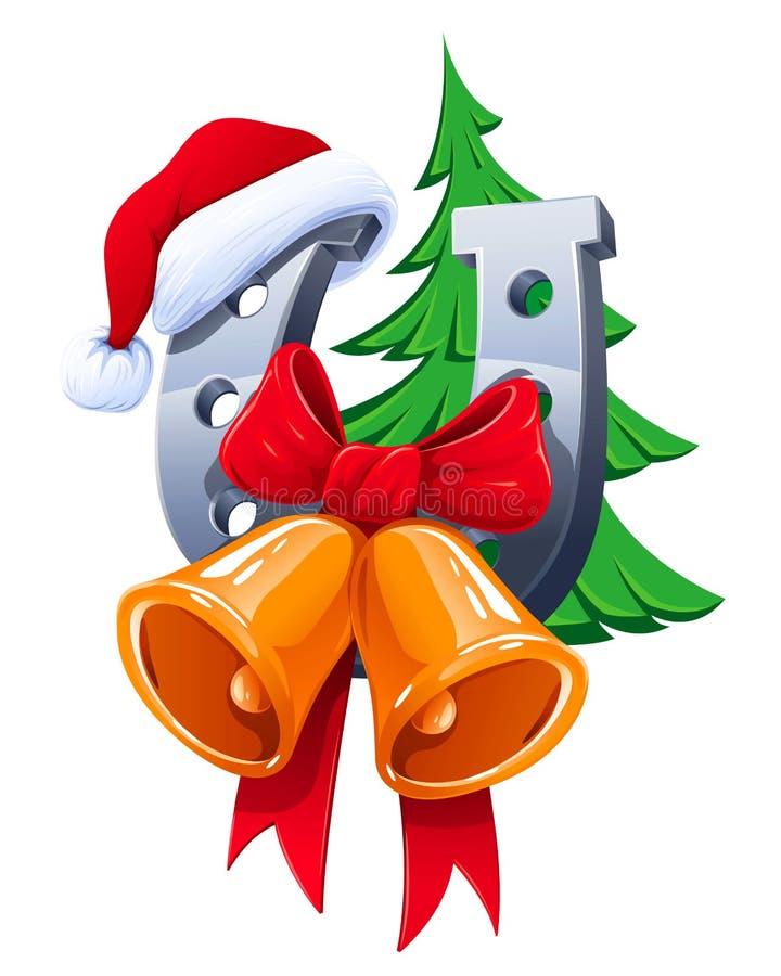 Merry Christmas illustration royalty free illustration