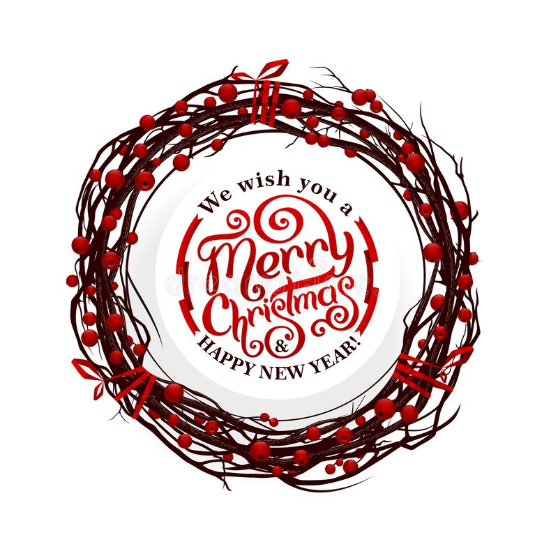 Merry Christmas lettering stock photos