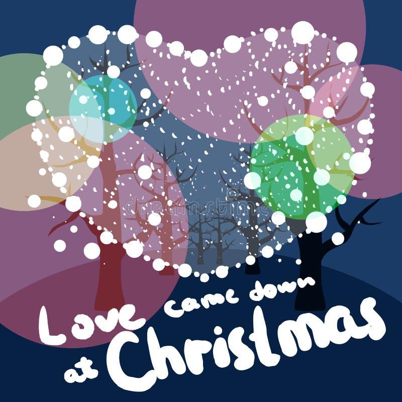 Download Merry Christmas love stock illustration. Illustration of decoration - 33993628
