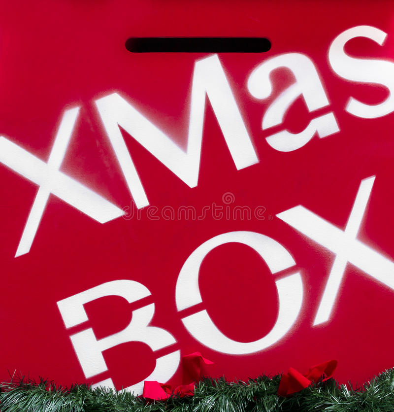 Merry Christmas mail box stock images
