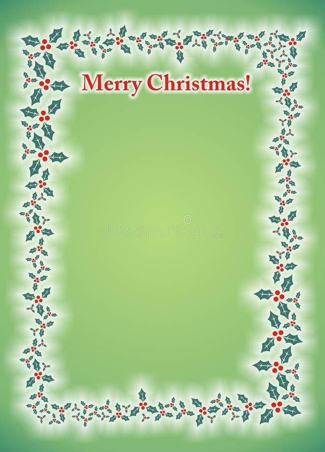 Merry Christmas Mistletoe Photo Frame Card royalty free stock photography