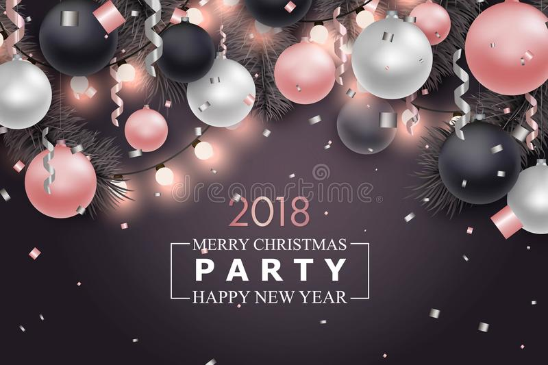 Merry Christmas and New Year background royalty free illustration