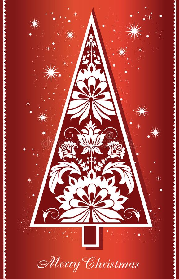 Merry Christmas and New Year background with decorative Christmas tree stock photography