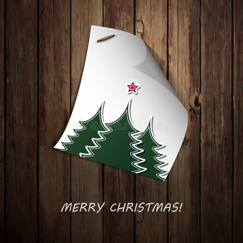 Merry Christmas  - Note Paper Message Stock Photo