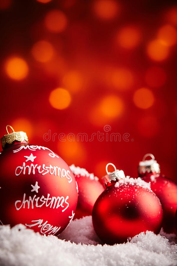 Merry Christmas ornaments background royalty free stock images