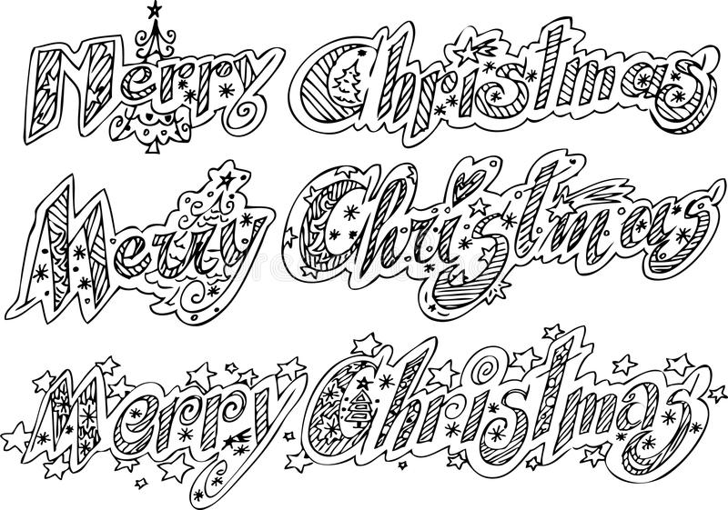 Merry Christmas vector royalty free stock photos