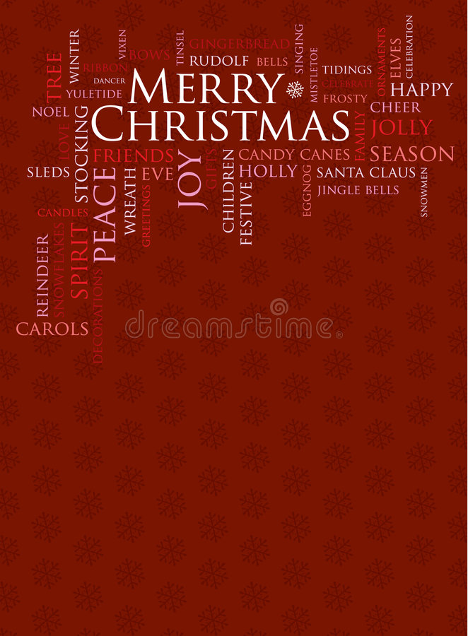 Merry Christmas And Other Holiday Words Royalty Free Stock Photo