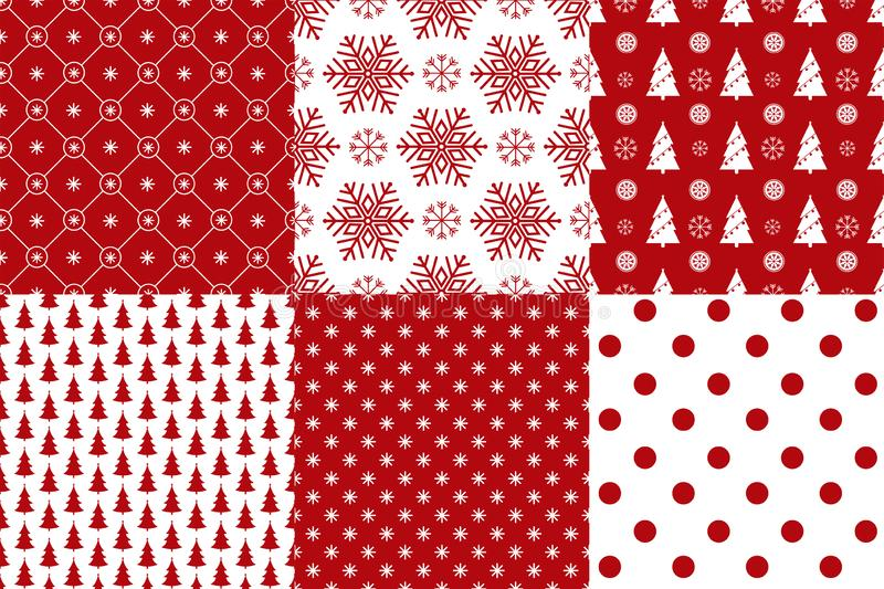 Merry Christmas pattern seamless collection.Xmas background royalty free illustration