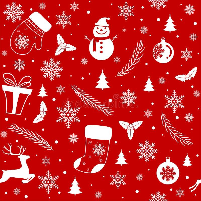 Merry Christmas pattern seamless stock illustration
