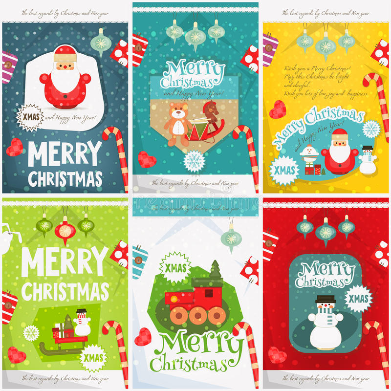 Merry Christmas Posters Stock Vector Illustration Of Christmas