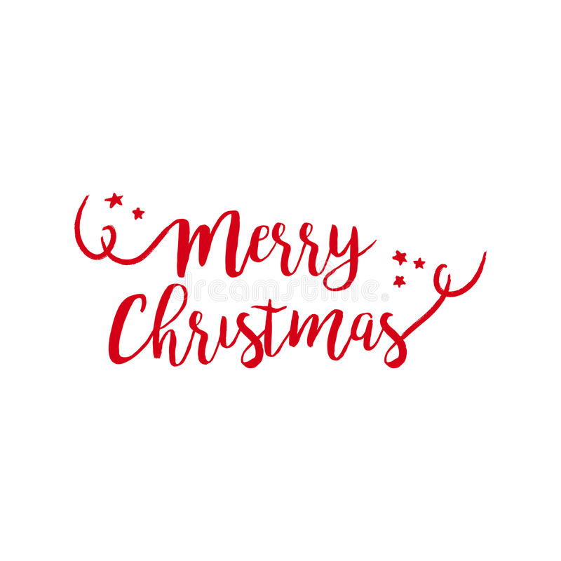 Merry christmas quote text lettering illustration stock illustration
