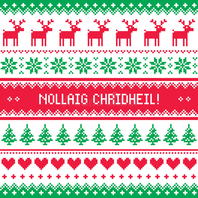 Merry christmas in scottish gaelic greetings card seamless pattern download merry christmas in scottish gaelic greetings card seamless pattern stock vector illustration of m4hsunfo