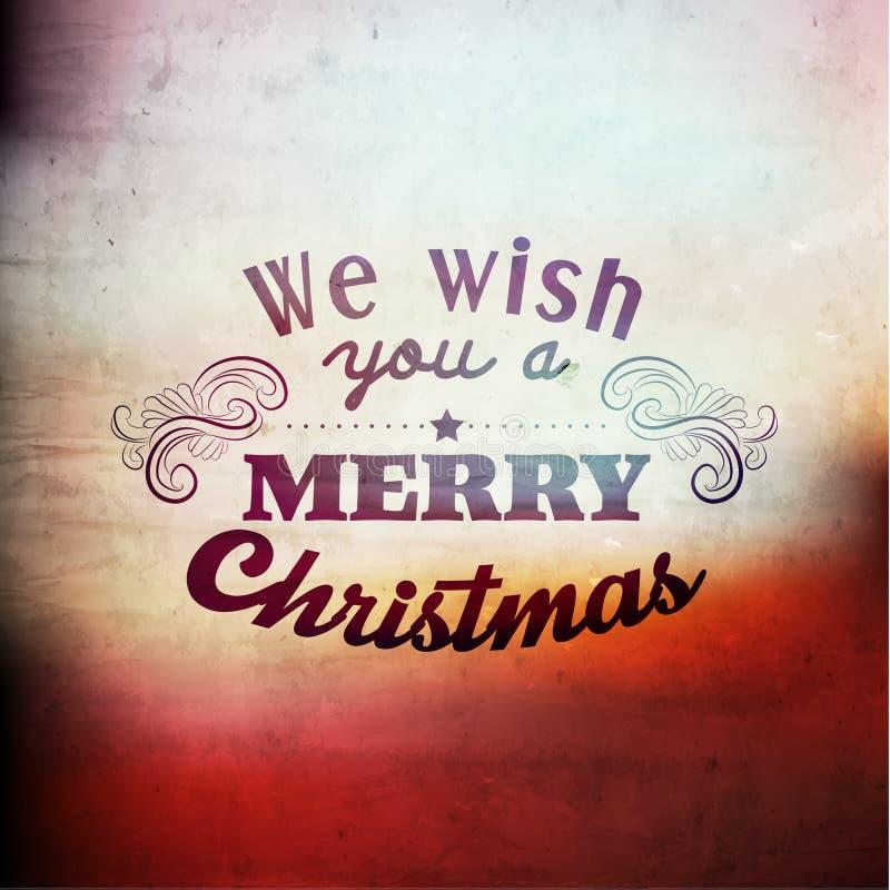 Merry Christmas Season Greetings Vector Design stock illustration
