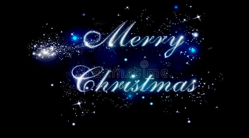 Merry Christmas shiny letters royalty free illustration