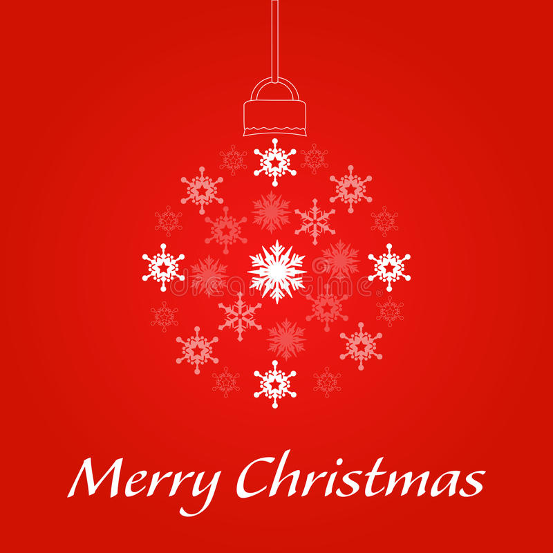 Merry Christmas Showflake stock photo