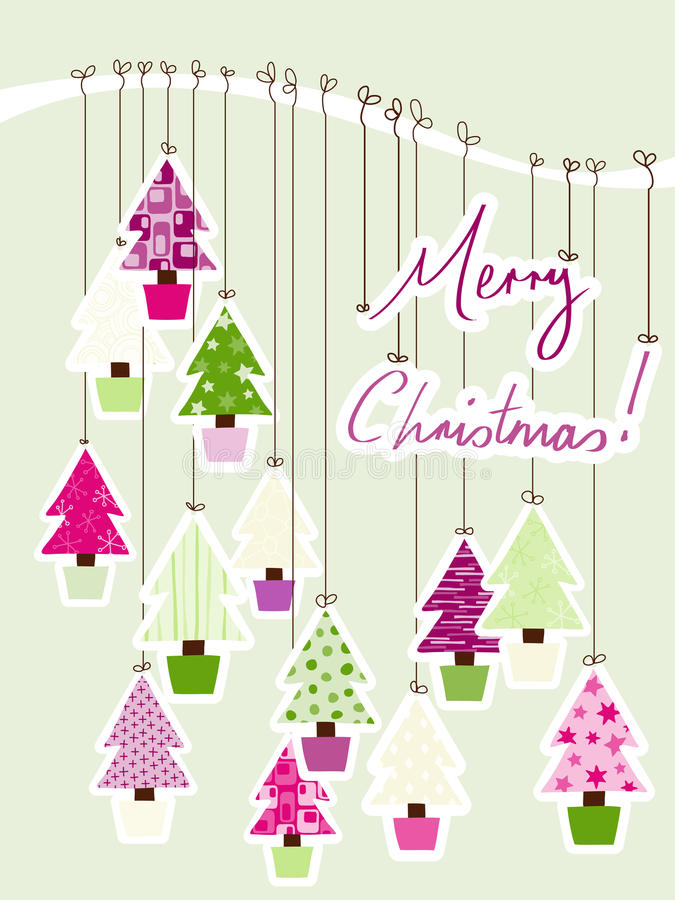 Merry Christmas Sign stock illustration