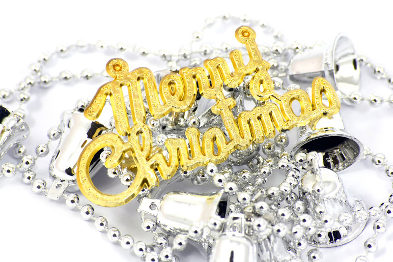 Download Merry Christmas sign stock photo. Image of christmas, silver - 7439210