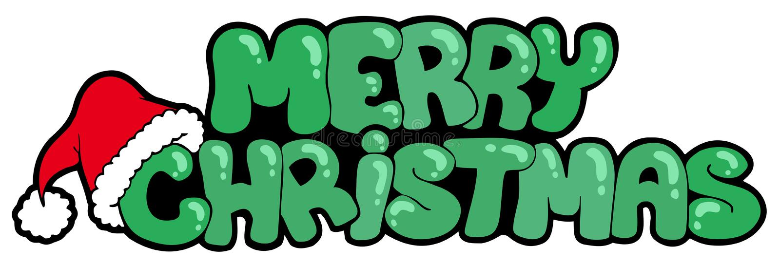 Download Merry Christmas Sign With Hat Stock Vector - Image: 15984331