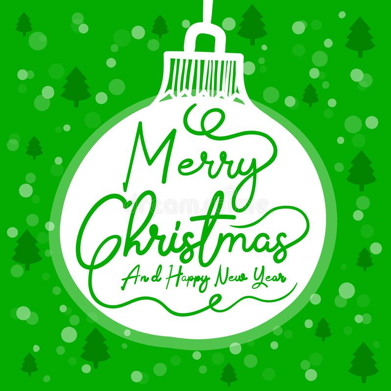 Merry Christmas. Of simple color illustrations vector illustration