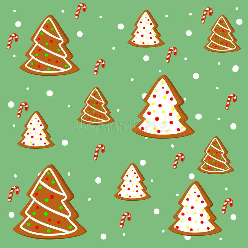Merry Christmas. Of simple color illustrations royalty free illustration