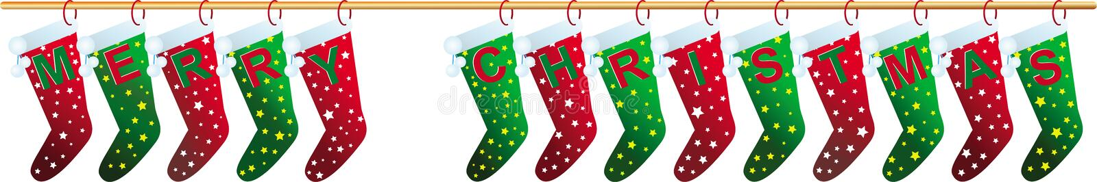 Merry Christmas socks royalty free stock images